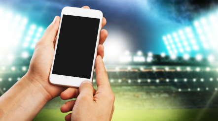 phone at soccer stadium