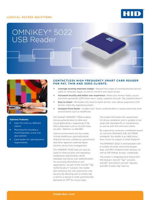 OMNIKEY® 5022 USB Reader (English)