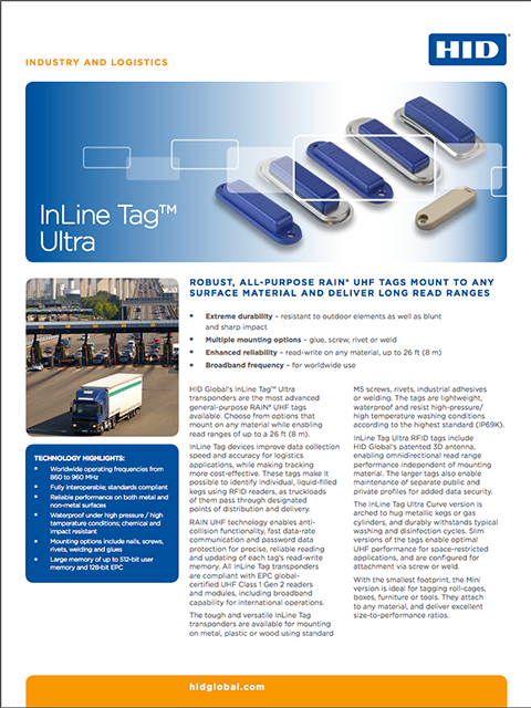 InLine Tag Ultra Family Datasheet